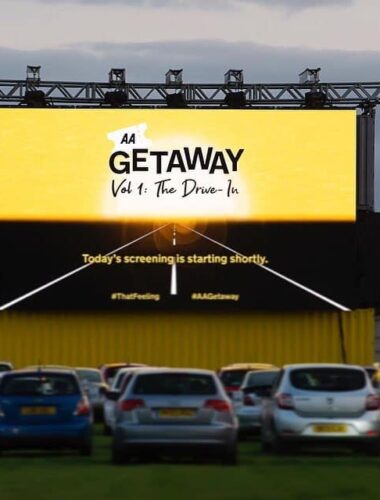 WORKING WITH: THE AA GETAWAY, DRIVE IN CINEMA